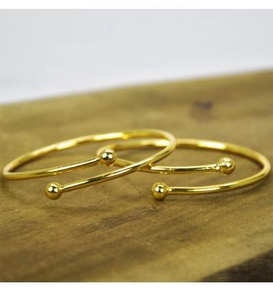 Gold Plated Open Bangle Bracelet