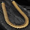 Traditional Antique Matte Lakshmi Cash Bridal Long Chain Set