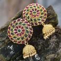 Bollywood Fashion Large Multicolour Earstuds Jhumkas