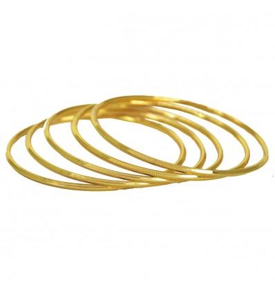 Micro Gold Plated Thin Bangles