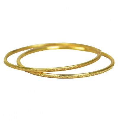 Micro Gold Plated Thin Daily Wear Bangles