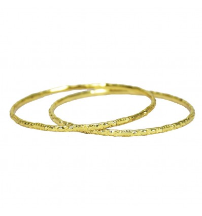 Micro Gold Plated Designer Daily Wear Bangles
