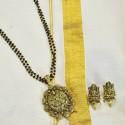 Antique Ruby Emerald Lakshmi Pendant Sets