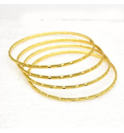 Stylish Micro Gold plated Designer MC Bangles