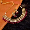 Eye-catching Premium Gold Plated Kundan Choker Set