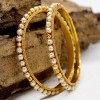 Gold Plated Pearl Beads Bangles