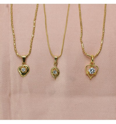 Micro Gold Plated Designer Pendant Sets Combo