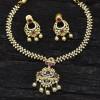 Splendid American Diamond Ruby Necklace Set
