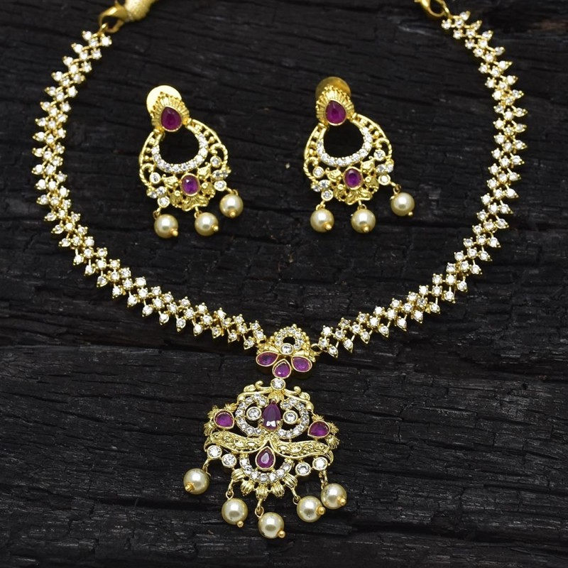09fd4e003c1 Buy Splendid AD Ruby Emerald Necklace Set Online