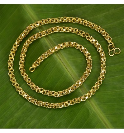 Designer Gold Plated Medium Zello Chain