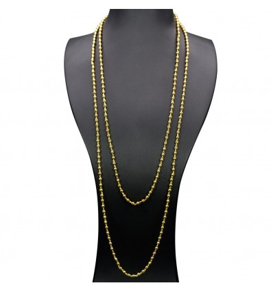 Gold Plated Simple Bead Chain