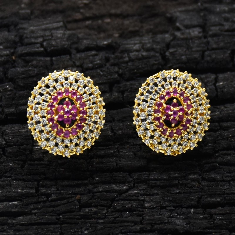 2401d167d Premium Gold Plated Cz Stone Ear Studs Buy Online|Kollam Supreme