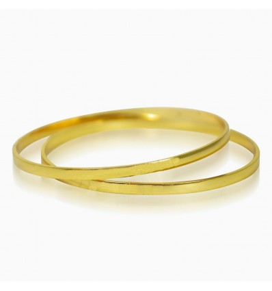 Gold Plated Daily Wear Plain Bangles