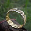 Alluring Gold Plated American Diamond Tear Drop Bangles