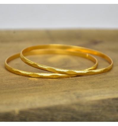 Golden Daily Wear Thin Bangles