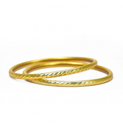 Golden Simple Daily Wear Pipe Bangles