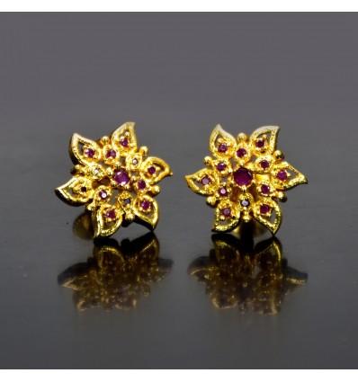 Daily Wear Semiprecious Stone Star Studs