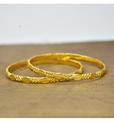 Golden Designer Daily Wear Roja Bangles