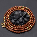 Gold Plated Sand Stone Mala Chain