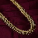 Gold Plated Designer Long Chain With White Stone