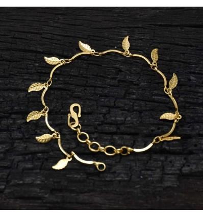 Gold plated leaf Ladies Bracelet