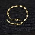 Gold plated oval design Ladies Bracelet