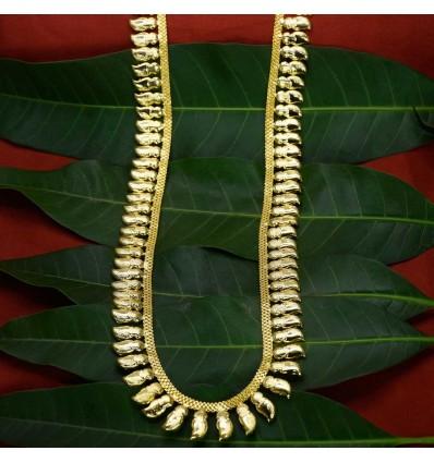 Elegant Designer Mango Bead Golden Long Haram