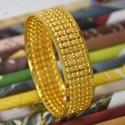 Beautiful Gold Plated Designer Broad Bangle