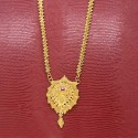 Golden Designer Golden Prawn Chain with Big Ruby AD Pendant