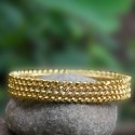 Gold plated Four Line Medium Twisted Bangle