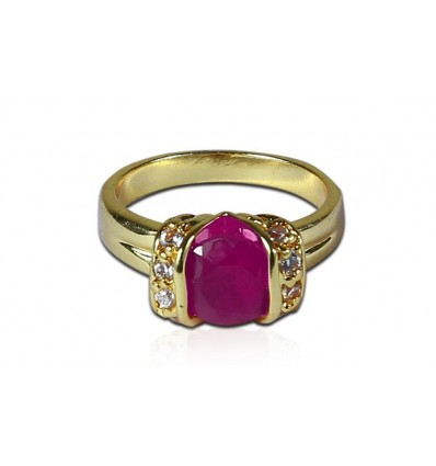 Premium Gold plated Ruby stone Ring