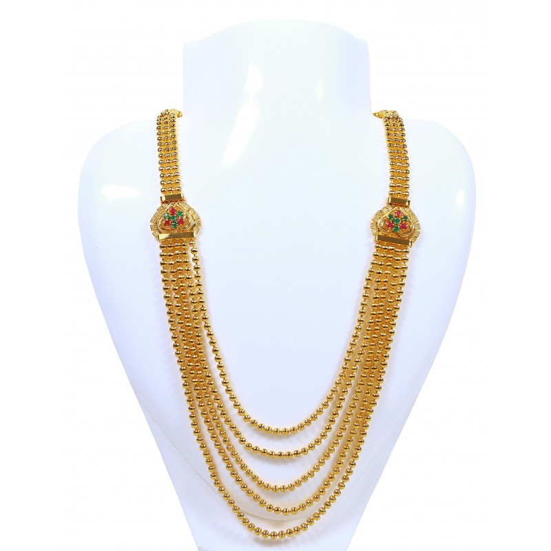 Buy Gold Plated Multi Strand Chain with Side Pendants online