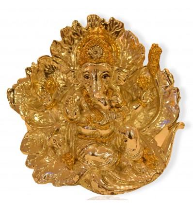 Gold Plated Ekadrishta/ Mahaganapathy idol