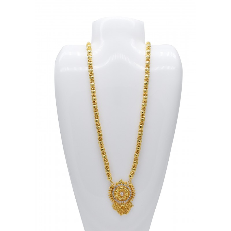 designer ruby cz buy long oval chain with stone ball online plated mc pendant gold kollamsupreme white heart