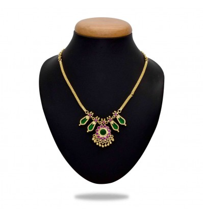 Traditional Double Nagapadam Necklace