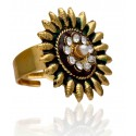 Micro Gold Plated Multicolor Enamel Finger Ring