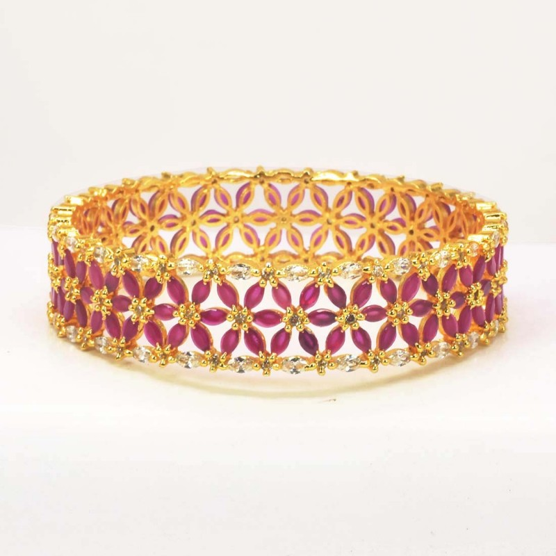Ruby Floral Bangle