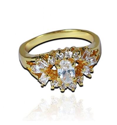 White AD ladies Finger Ring