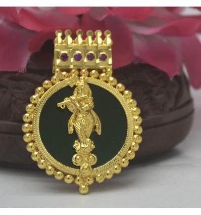 Premium Gold Plated Lord Krishna Pendant