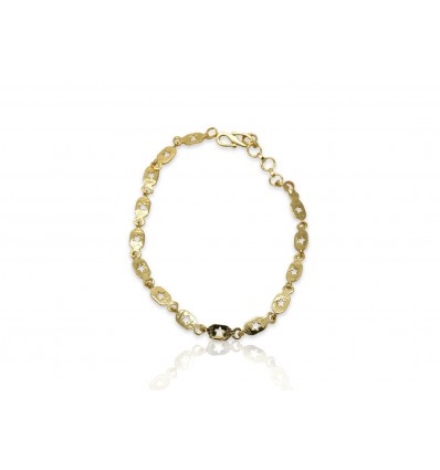 Gold plated Box with Star Design Ladies Bracelet