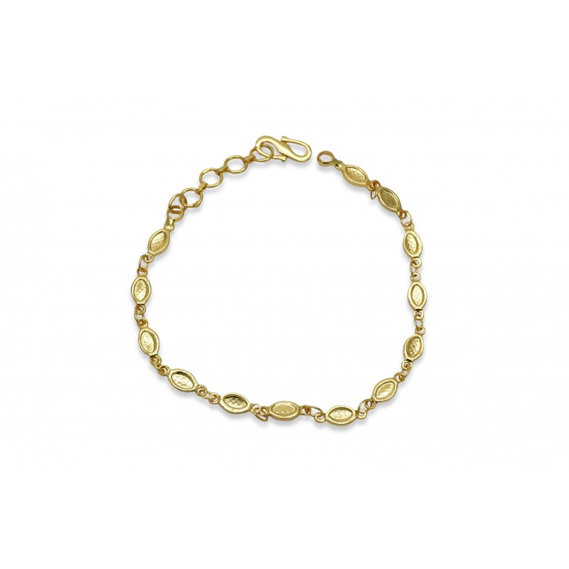 buy gold plated oval design ladies bracelet onlinekollam