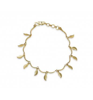 Gold plated leaf Ladies Bracelet