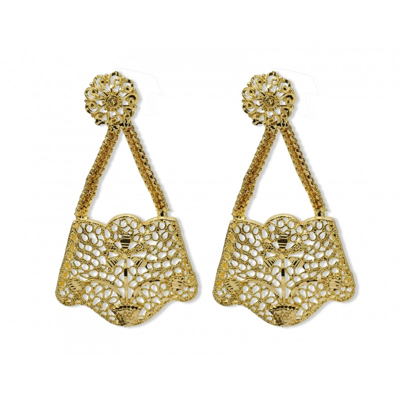 Buy Gold plated designer ear rings line Kollamsupreme