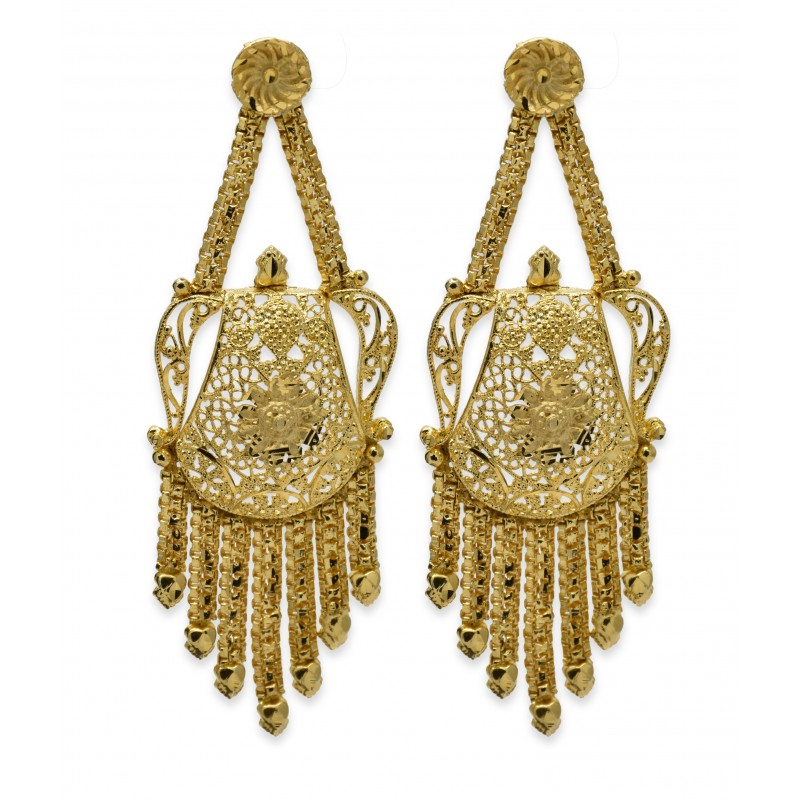 Buy Gold plated designer ear rings Online|Kollamsupreme