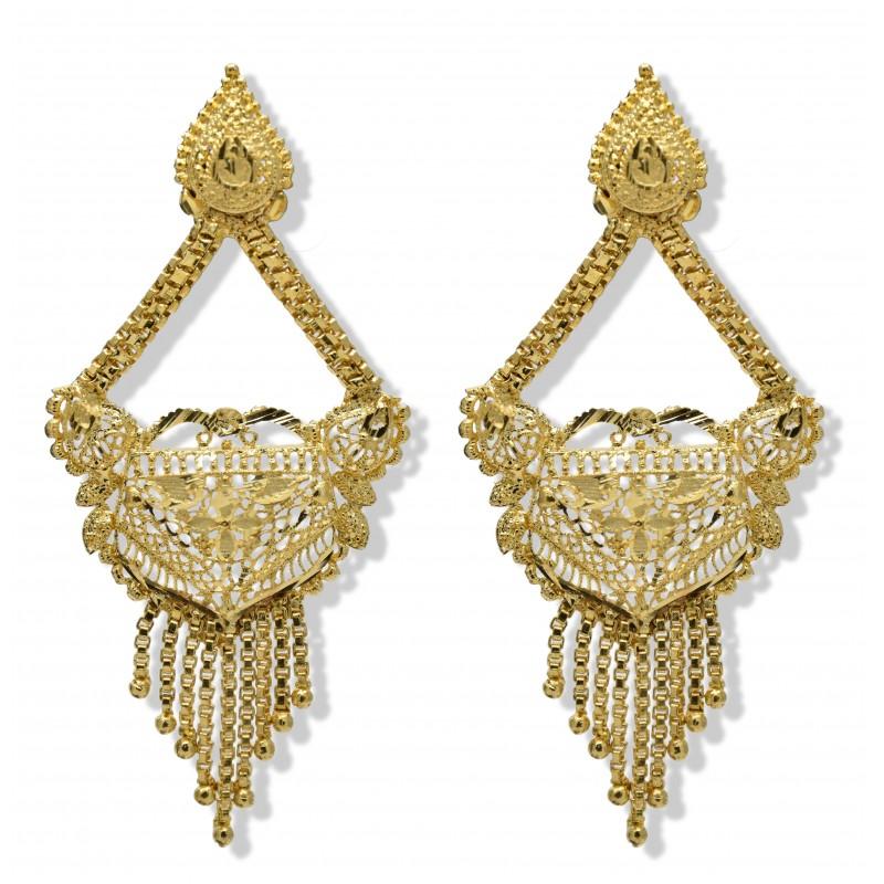 Buy Floral Designer Gold plated ear Rings Online|Kollamsupreme