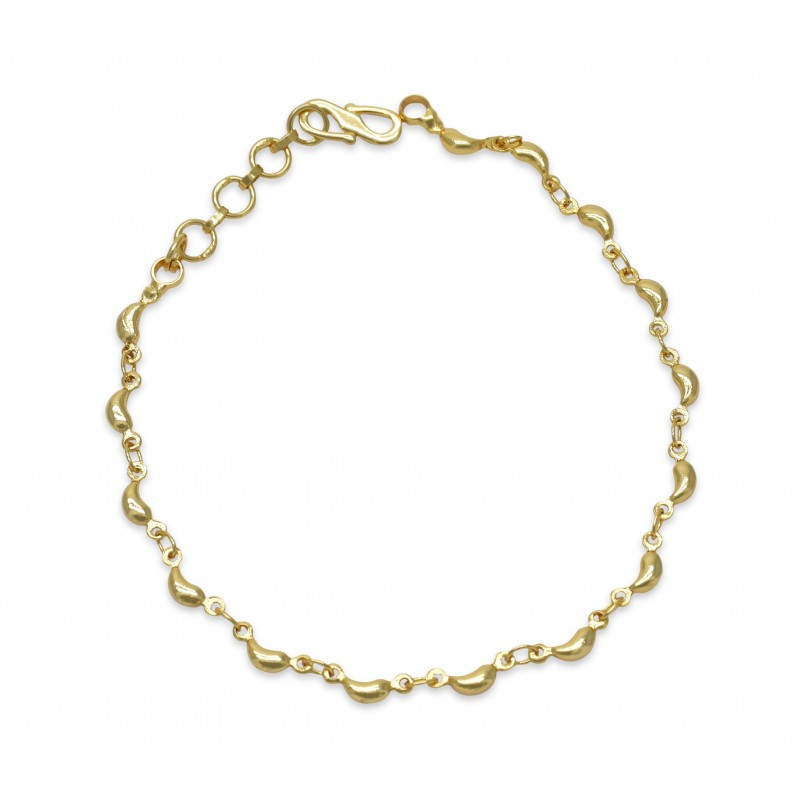 Buy Gold Plated Plain Mango Design Bracelet online Kollam supreme