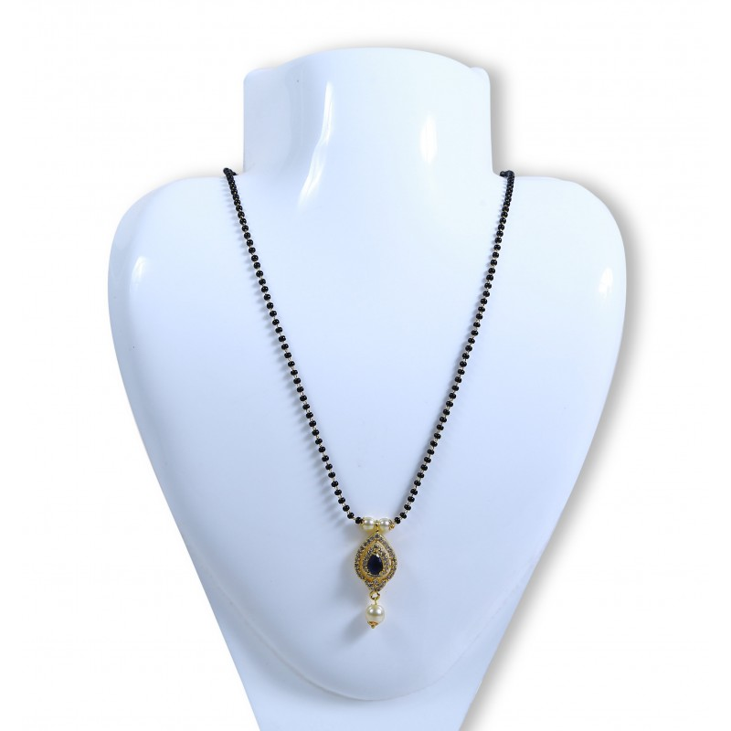 Buy mangalsutra black bead chain with cz stone pendant online mangalsutrablack bead chain with cz stone pendant aloadofball Choice Image