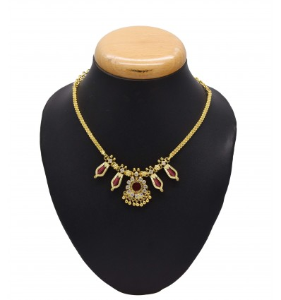 Indian Traditional Red Nagapadam Necklace
