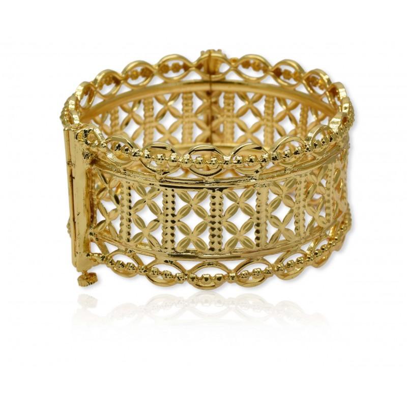 Buy One Gram Gold Plated Designer Broad Bangle Online Kollam Supreme