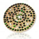 Imitation Temple Jewellery Green Rakodi/Billai
